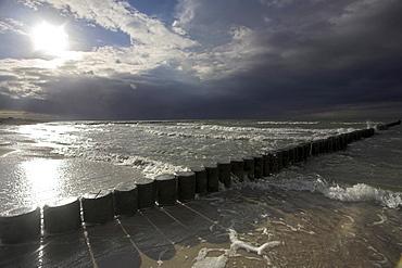 groyne in Baltic sea Mecklenburg-Vorpommern Germany