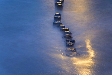 groyne in Baltic sea water sun reflection nature mood Mecklenburg-Vorpommern Germany Nature Scenery