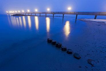 pier of Wustrow at night mood Wustrow Mecklenburg-West Pomerania Germany