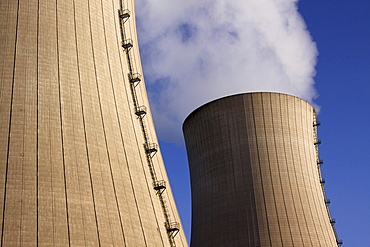 cooling towers of nuclear power plant Grohnde Niedersachsen Deutschland