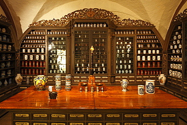 old historical pharmacy in pharmacy museum