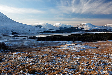 mountain landscape and lake West Highlands Scotland