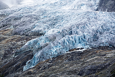 The rapidly retreating Glacier du Trient in the Swiss Alps.