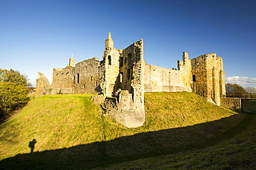 Warkworth Castle in Northumberland, UK.