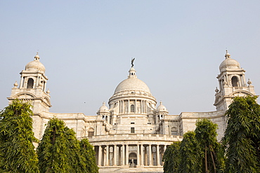 The Victoria Memorial Hall in Calcutta, Bengal, India, built to commemorate Queen Victoria.