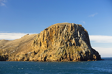 Volcanic rocks on Deception Island in the South Shetland Islands off the Antarctic Peninsular which is an active volcanic caldera.