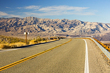 The northern road into Death Valley, by Stovepipe Wells, California, USA.