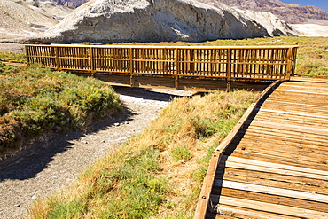 A dried up creek that when it contains water, supports Pup fish, a highly adapted fish that can tolerate high levels of salt. Death Valley is the lowest, hottest, driest place in the USA, with an average annual rainfall of around 2 inches, some years it does not receive any rain at all.