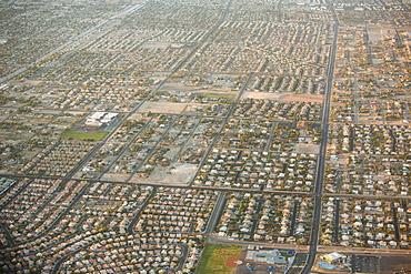 Las Vegas, Nevada, USA from the air.