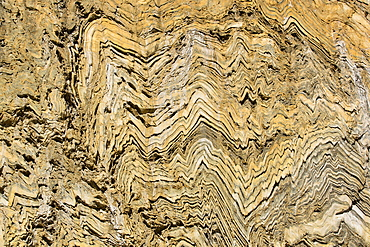 Folded metamorphic rock in Kings Canyon National Park, California, USA