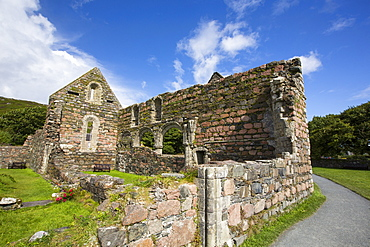 The Augustinian medieval nunnery on the Isle of iona, it is the oldest preserved nunnery in the British Isles, constructed around 1203.
