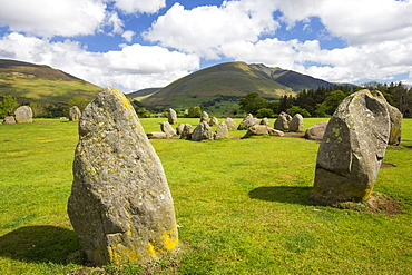 Castlerigg stone circle, near Keswick Lake District, UK.