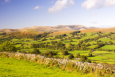 Dentdale in the Yorkshire Dales National Park, Cumbria, UK, looking towards the Howgills.