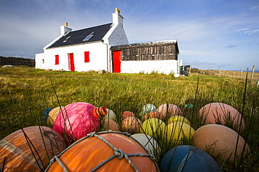A remote crofting house on Rubha Coigeach in Assynt, North West Highlands, Scotland, UK.