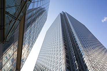 Banks in Canary Wharf, London, UK.