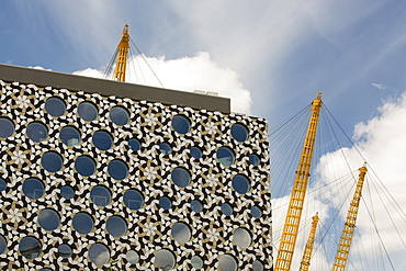 The Ravensbourne, College of Design and Communication, near the O2 Arena in  Greenwich, London, UK.