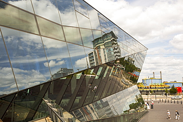 The Crystal building which is the first building in the world to be awarded an outstanding BREEAM (BRE Environmental Assessment Method) rating and a LEED (Leadership in Energy and Environmental Design) platinum rating. London, UK.