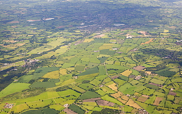 Conutryside from the air near Manchester, UK.