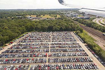 An airport carpark at Gatwick airport, UK.