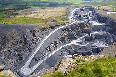 Dry Rigg Quarry at Helwith Bridge in the Yorkshire Dales National Park, UK.