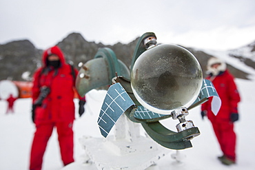 A Campbell Stokes Sunshine Recorder, which measures hours of sunlight at Base Orcadas, which is an Argentine scientific station in Antarctica, and the oldest of the stations in Antarctica still in operation. It is located on Laurie Island, one of the South Orkney Islands, just off the Antarctic Peninsular. The Antarctic Peninsular is one of the fastest warming places on the planet.