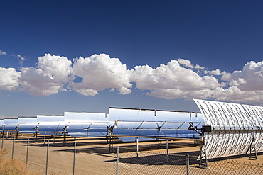 The 354 megawatts SEGS plant at Kramer Junction is the second largest solar thermal power plant in the world, mojave Desert, California, USA.