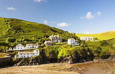 Houses in Port Isaac in Cornwall, UK, a village made famous by the TV series Doc Martin.