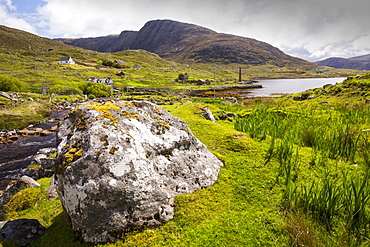 An old whaleing station on loch a Siar on the Isle of Harris, Outer Hebrides, Scotland, UK.