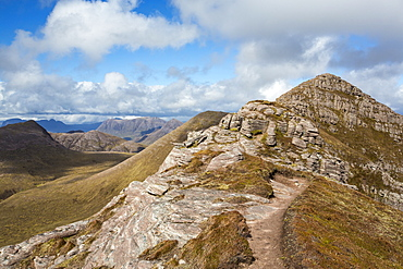 Ben Mor coigach in the Scottish Highlands, coigach, UK, looking North into Assynt.