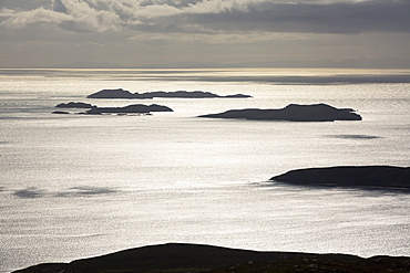 The Summer Isles off Ullapool in the Highlands, Scotland, UK, from Ben Mor Coigach.