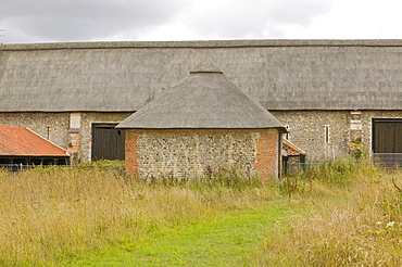 Paston barn, the largest thatched barn in the UK, Norfolk, England, United Kingdom, Europe