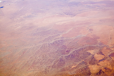 The Gobi desert from the air, China, Asia