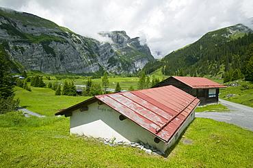 A high Alpine valley at Bargis, Switzerland, Europe
