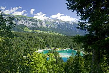 Lake Cauma near Flims, Graubunden, Switzerland, Europe