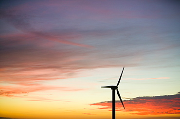 A windfarm at Camelford in Cornwall, England, United Kingdom, Europe