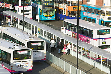 Public transport in Leicester, Leicestershire, England, United Kingdom, Europe