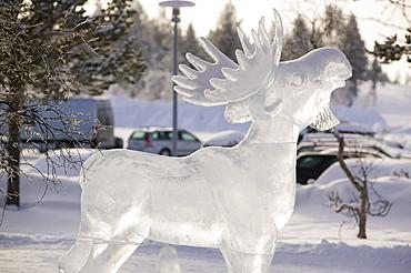 Ice sulptures at Kilopaa, Northern Finland, Finland, Scandinavia, Europe
