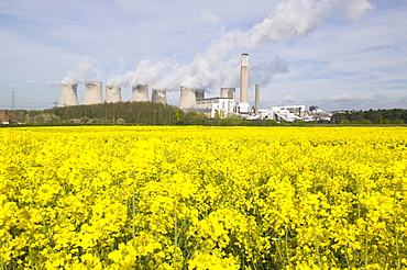 Ratcliffe on Soar, a massive coal powered power station in Nottinghamshire, England, United Kingdom, Europe