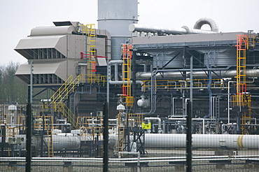 A gas processing plant that takes gas from the Morecambe Bay gas field, Barrow in Furness, Cumbria, England, United Kingdom, Europe