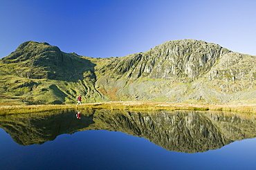 Pavey Ark and Harrison Stickle in the Langdale Valley, Lake District National Park, Cumbria, England, United Kingdom, Europe