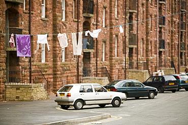Tenement blocks on Barrow Island, Barrow in Furness, Cumbria, England, United Kingdom, Europe