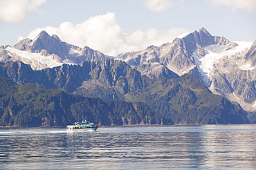 Coastal scenery in the Kenai Fjords National Park in Alaska, United States of America, North America