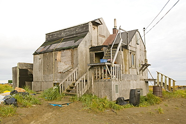 Shishmaref, a tiny island inhabited by around 600 Inuits, between Alaska and Siberia in the Chukchi Sea, United States of America, North America