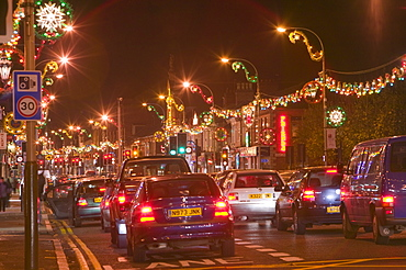 Diwali lights in Leicester, Leicestershire, England, United Kingdom, Europe