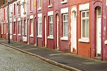 Terraced housing in the Kensington area of Liverpool, Merseyside, England, United Kingdom, Europe