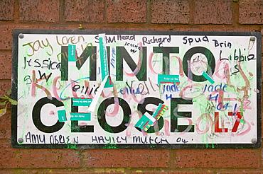 Vandalism in the Kensington area of Liverpool, Merseyside, England, United Kingdom, Europe