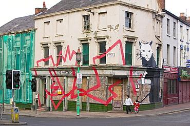 Vandalism in a rough area of Liverpool, Merseyside, England, United Kingdom, Europe