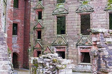 Caerlaverock Castle in Dumfries and Galloway, Scotland, United Kingdom, Europe