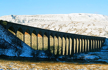 Ribble Head Viaduct in the Yorkshire Dales National Park near Ingleton, Yorkshire, England, United Kingdom, Europe