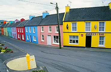 The colourful village of Eyries, County Cork, Munster, Republic of Ireland, Europe